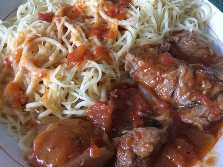 spaggetti with braised beef
