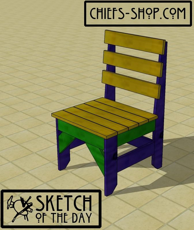 Sketch of the Day: 1 x 4 Chair  Bed slats, Chairs and The ojays
