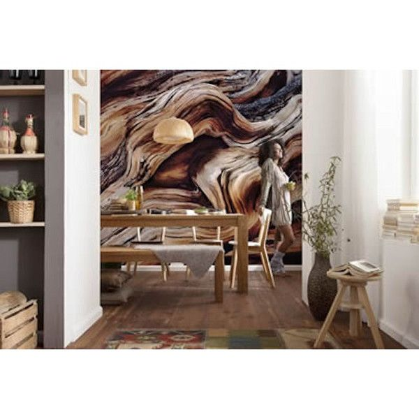 This gorgeous wood texture mural brings the natural beauty of a wise old tree to your walls. A tranquil light illuminates the trunk of a bristlecone pine, revea