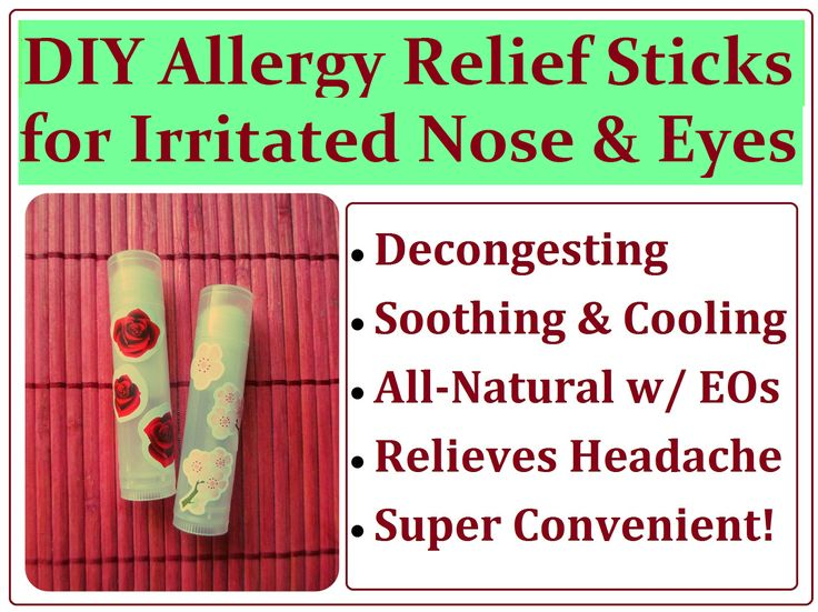 DIY Sinus Allergy Relief Sticks Recipe. How to Make a Natural Balm Tube for Congested and Irritated Noses (and Eyes Too!) - homemade on-the-go treatment with essential oils.