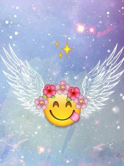 Image via We Heart It #galaxy #tumblr #wallpaper #anglewings #emoji
