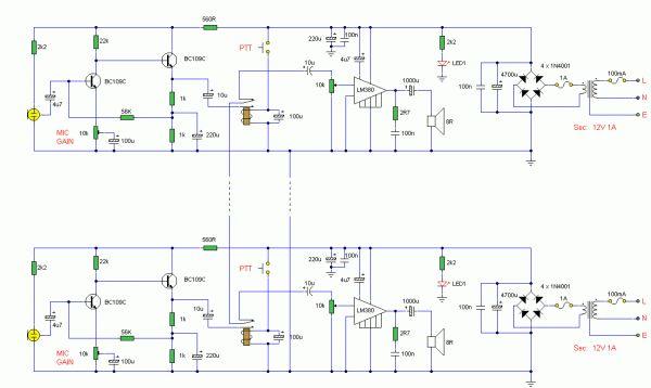 Two Way Radio Circuit Diagram   Diagram   Circuit diagram, Diagram