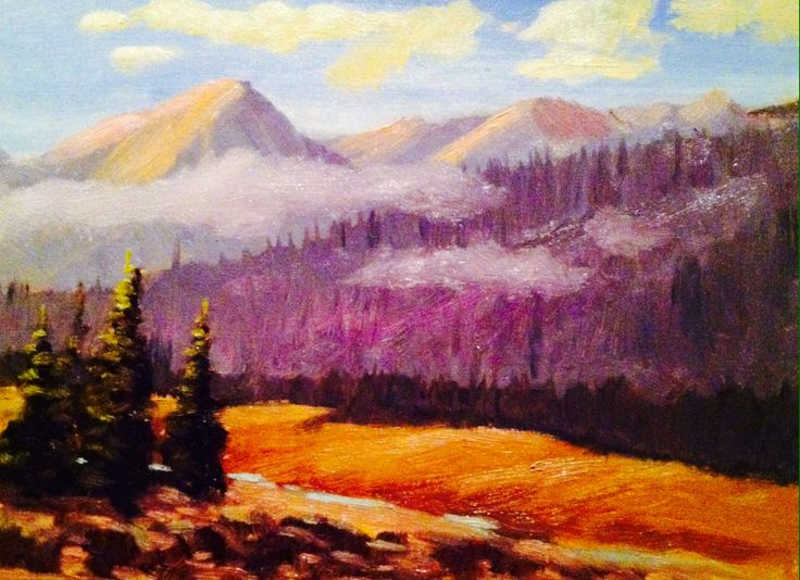 "Soldier Mountain, Idaho 12""x15"" Oil painting #art #landscapeart #oilpainting #idaho"