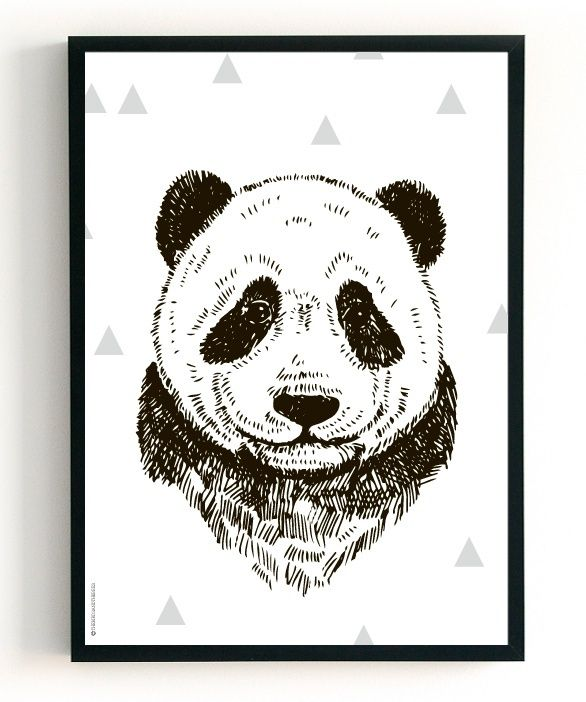 POSTER | PANDA & FEATHER | 2 in 1 | THE BIRDS & THE BEES
