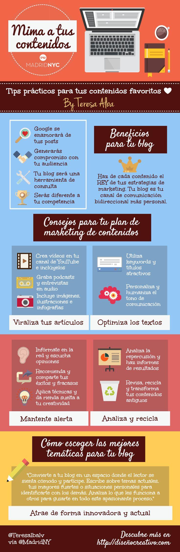 Cómo mimar tus contenidos #infografia #infographic #marketing | TICs y Formación