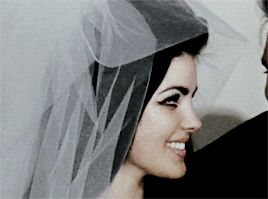 Elvis and Priscilla on their wedding day, May 1, 1967
