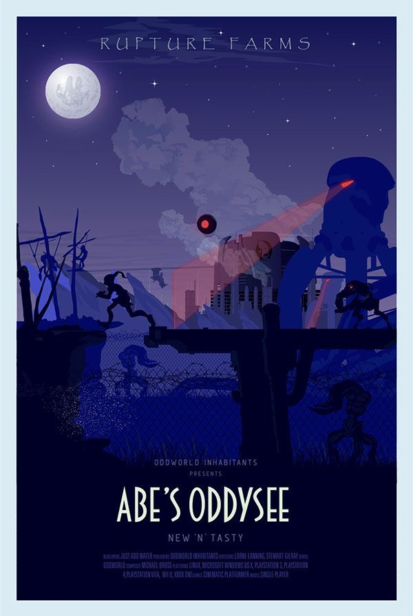 https://www.behance.net/gallery/19414881/Abes-Oddysee-Posters