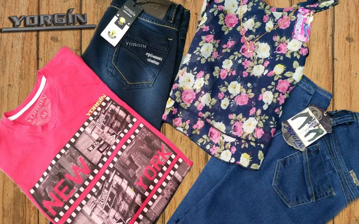 Conoce nuestra #MarcaDelDía: Yorgín Jeans. Jeans para dama y caballero, camisetas, blusas gran variedad y estilos diferentes. Encuentralos en el local: 1262. Tel: 3427980. Cel: 312 431 9630 - 311 804 8624. #ColombianoCompraColombiano.