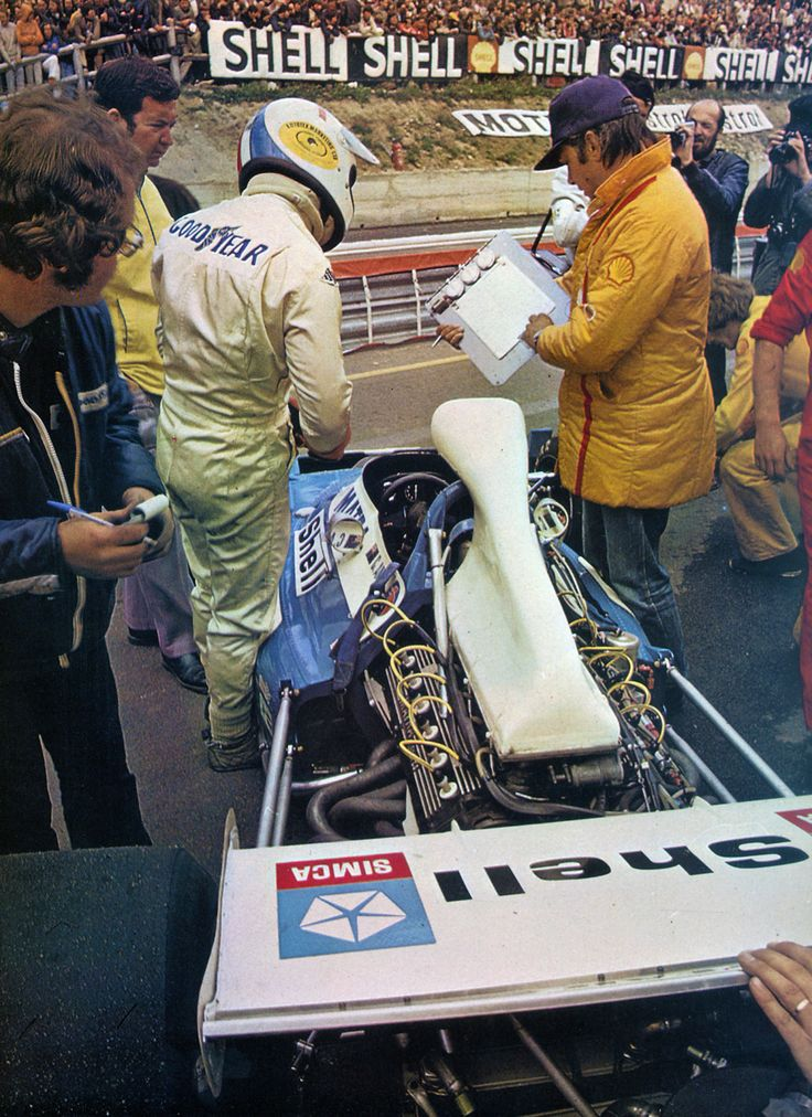 1972 French GP, Chris Amon in his Matra. Finished 3rd from