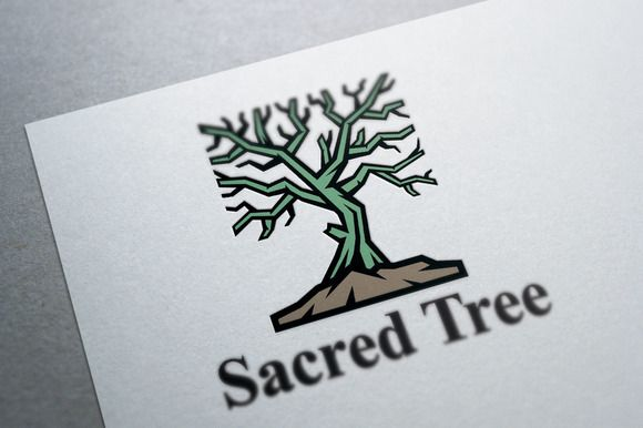Sacred Tree Logo Template by Heavtryq Design on @creativemarket