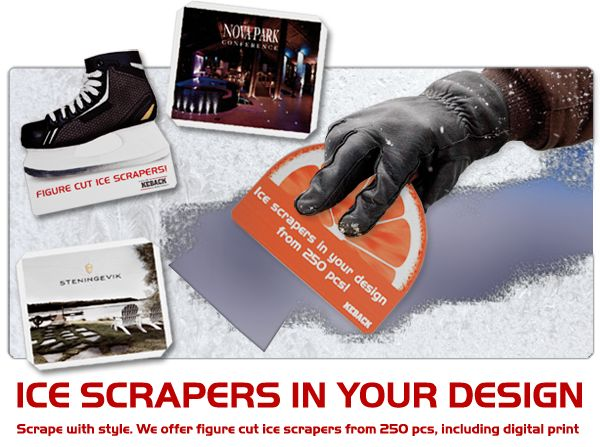 Winter is here!!! Everyone supplies ice scrapers.... so go that little extra and give out a bespoke shaped scraper!  #promoproducts