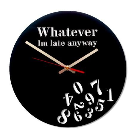Whatever, I'm Late Anyway Clock – Black from Wall Clock Wonders - R169 (Save 16%)