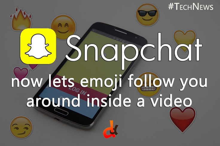 Android Snapchat users can now attach emoji to specific objects in their videos that will move, rotate, and scale automatically as the object moves throughout the snap. The update will come to iOS in the coming weeks.   #TechNews #Android #Snapchat #iOS #TechDaily  #DilemmasDiluted