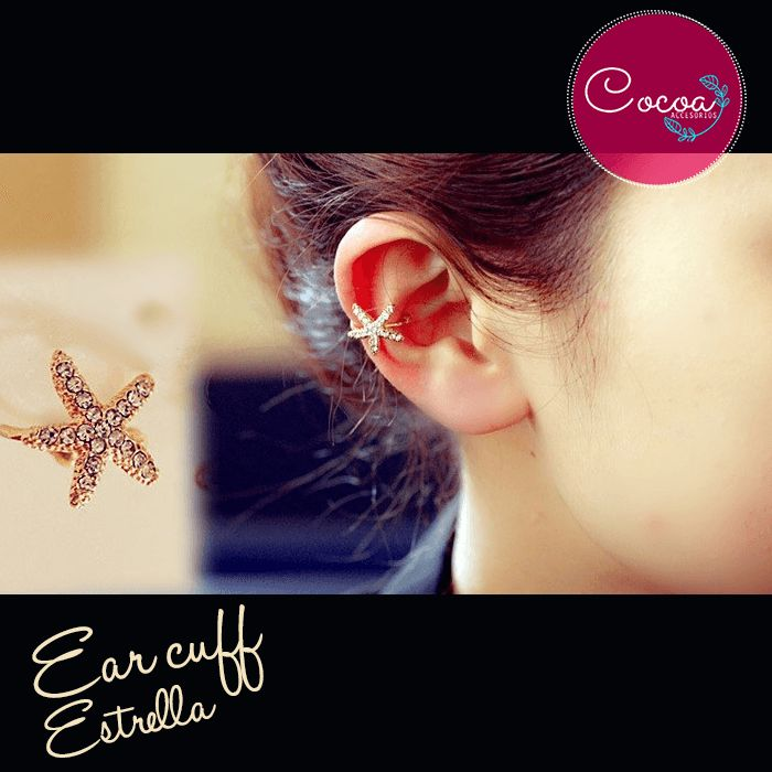 Ear cuff estrella /ear cuff star #Cocoaccesorios #accesorioscocoa #accesoriosParaMujer