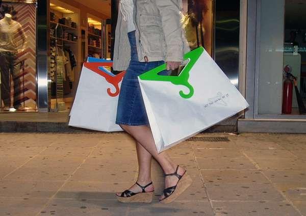Clothers hanger shopping bag