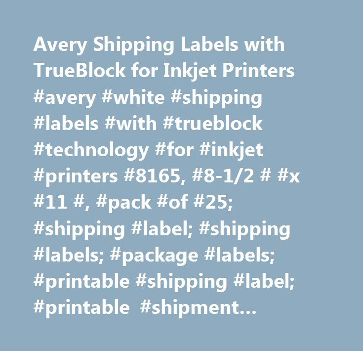 Avery Shipping Labels with TrueBlock for Inkjet Printers #avery - free printable shipping labels