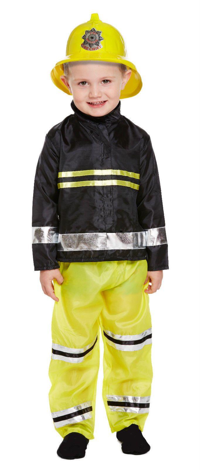BOYS TODDLER KIDS FIREMAN FIRE FIGHTER FANCY DRESS OUTFIT COSTUME 2 - 4 YEARS   | eBay
