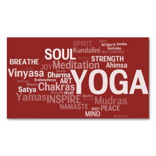 YOGA Instructor Business Card - Yoga Words | Fitness Yoga