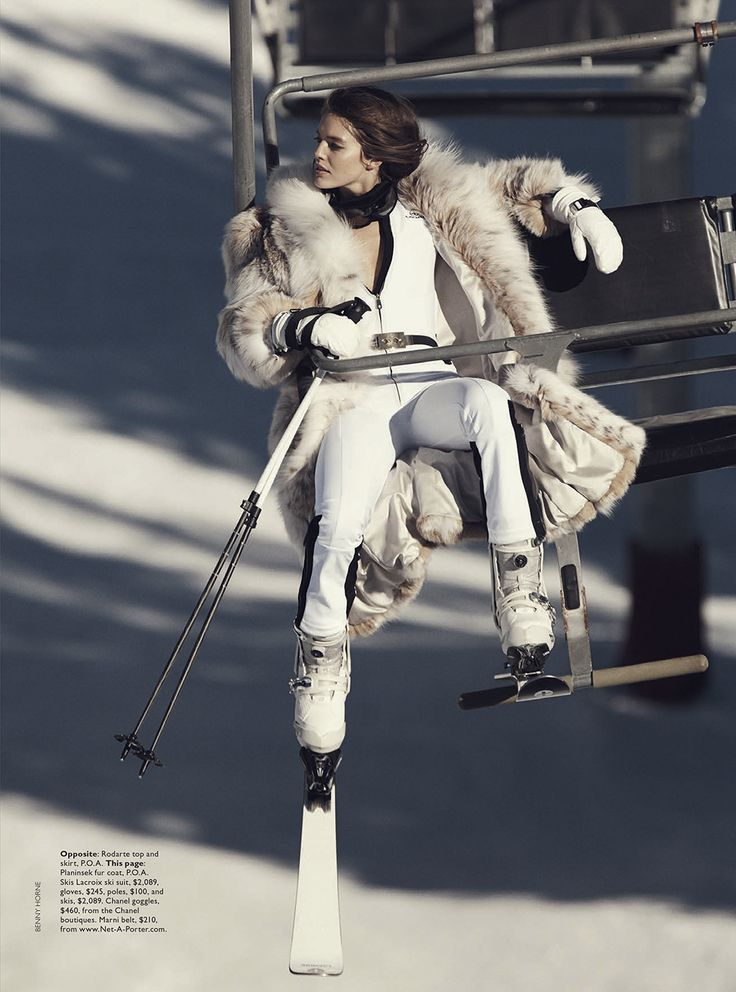 Chic ski || Let It Snow: Emily DiDonato by Benny Horne for Vogue Australia June 2014
