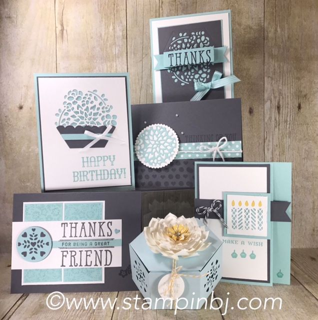 "Do a little ""Window Shopping"" with this bundle that includes an adorable box! Class kits with video tips & tricks available! #stampinbj.com"