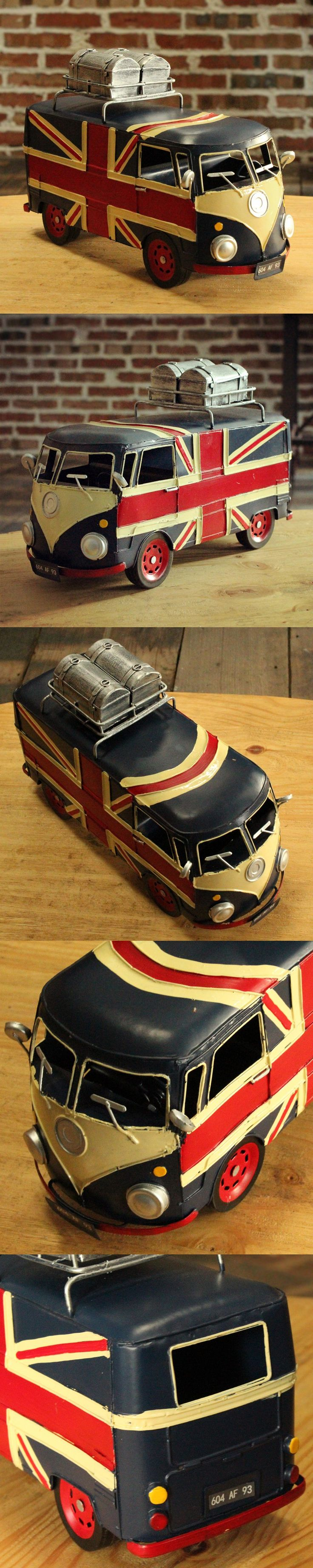 Free Shipping London Bus Metal Craft Classic Retro Bus Model For Gift & Promotion Bar Home Decoration $152