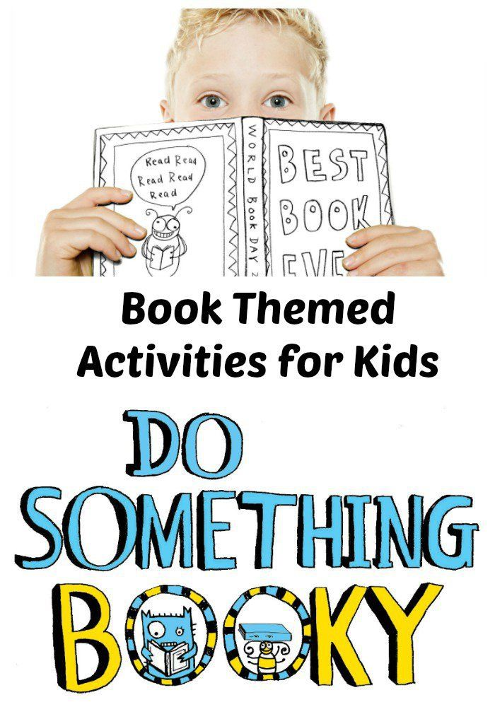 world book day. book themed activities for kids and parents