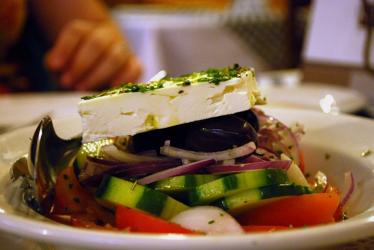 """What is an """"authentic"""" Greek salad, when Greek salad is an American invention? An interesting discussion of food authenticity at The Awl, with a good recipe for Greek salad."""