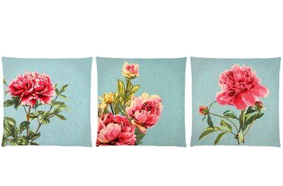 Blossom Bird gobelinpude med blomster og fugle assorteret 45x45 cm fra FS Home Collection