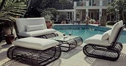 Elegant and sophisticated, this woven patio furniture with a contemporary flair is perfect for luxury outdoor living.