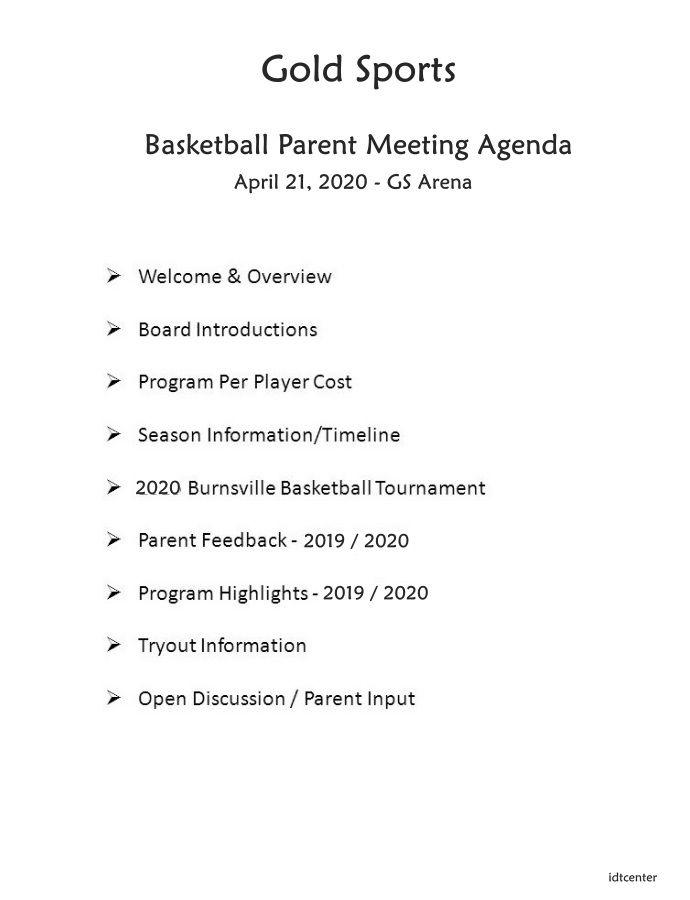 Parent Meeting Agenda Template In 2020 Meeting Agenda Template