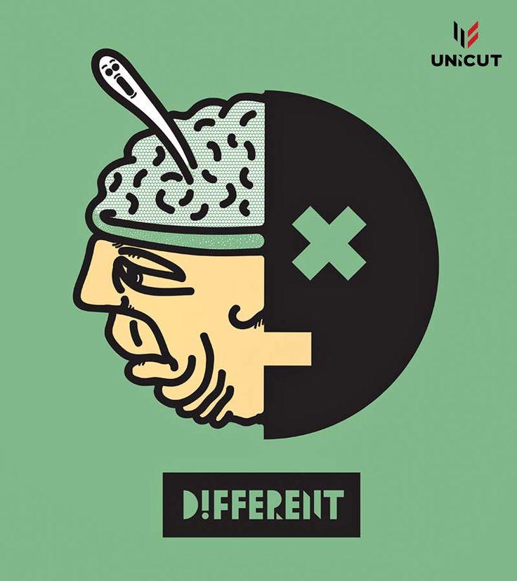"""Grafika na t-shirt """"Different"""""""