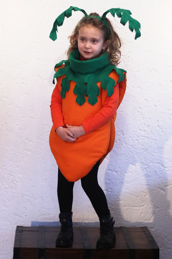 Homemade costumes for kids, Clara carrot (part III) all the instructions on the…