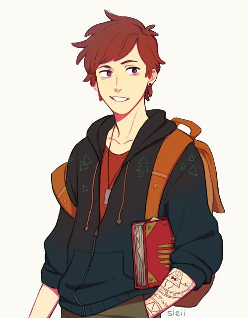 sleiin:  a teenage Dip based on life-writer's rly cute design! (idk how to draw his hat otl,..)