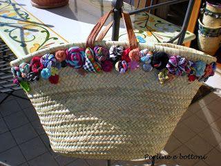 Perline e bottoni: BORSE DI PAGLIA -3