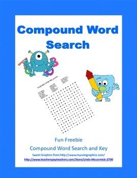 ... | Compound words, Compound word activities and Winter cupcakes