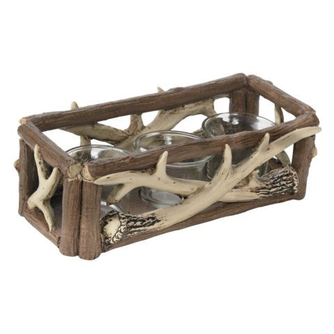 Red Shed Candle Holder With Faux Antlers Tractor Supply