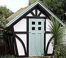 Build A New Storage Shed With One Of These 23 Free Plans: 8x7 Tudor
