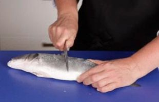 how to scale a fish fillet