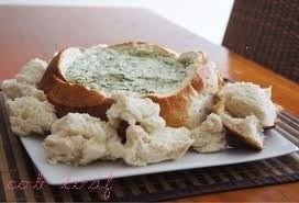 Spinach Cob Loaf Dip - my favorite!