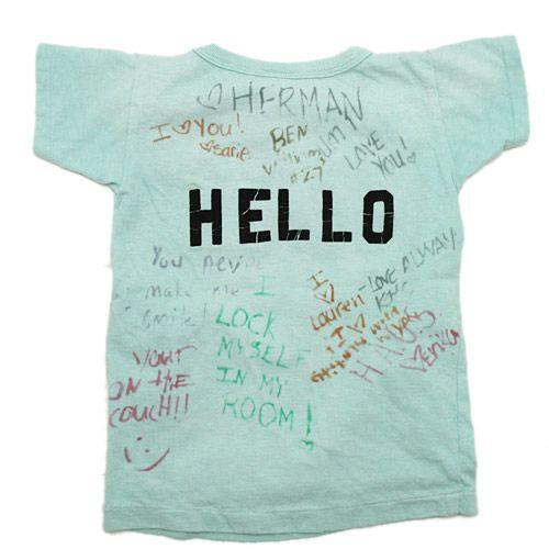 DENIM DUNGAREE(デニム&ダンガリー):ビンテージテンジク ROCK COME Tシャツ 14BLブルー の通販【ブランド子供服のミリバール】
