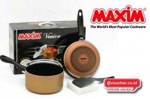 Lengkapi peralatan masakmu dengan Maxim Venice hanya dengan Rp. 180,000 - www.evoucher.co.id #Promo #Diskon #Jual  klik > http://www.evoucher.co.id/deal/-Maxim-Venice  Peralatan masak didapurmu lebih lengkap, dan berkualitas dengan menggunakan 1 set peralatan masak dari maxim venice.  Pengiriman akan dilakukan mulai 4 November 2013