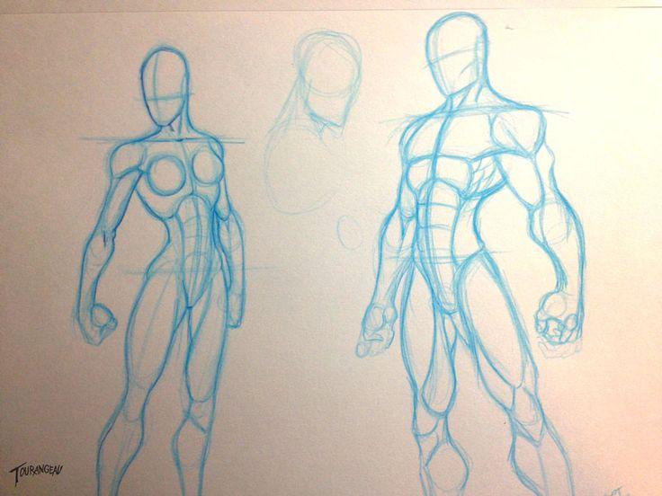 Quick Figure Sketches by stourangeau.deviantart.com on @deviantART