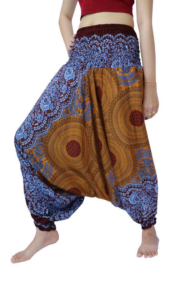 Thai Harem Pants Yoga Pants Drop Crotch Aladdin Pants Boho