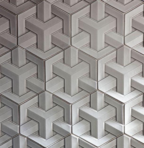 Плитка Geo Weave, бетон, дизайнер Дэниэл Огассян