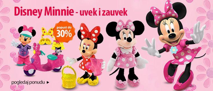 Disney Minnie - uvek i zauvek! Pogledajte našu ponudu na www.ekupi.rs #igračke #sve za decu #minnie #mickey #mouse #ekupi #online #shopping #kupovina #srbija