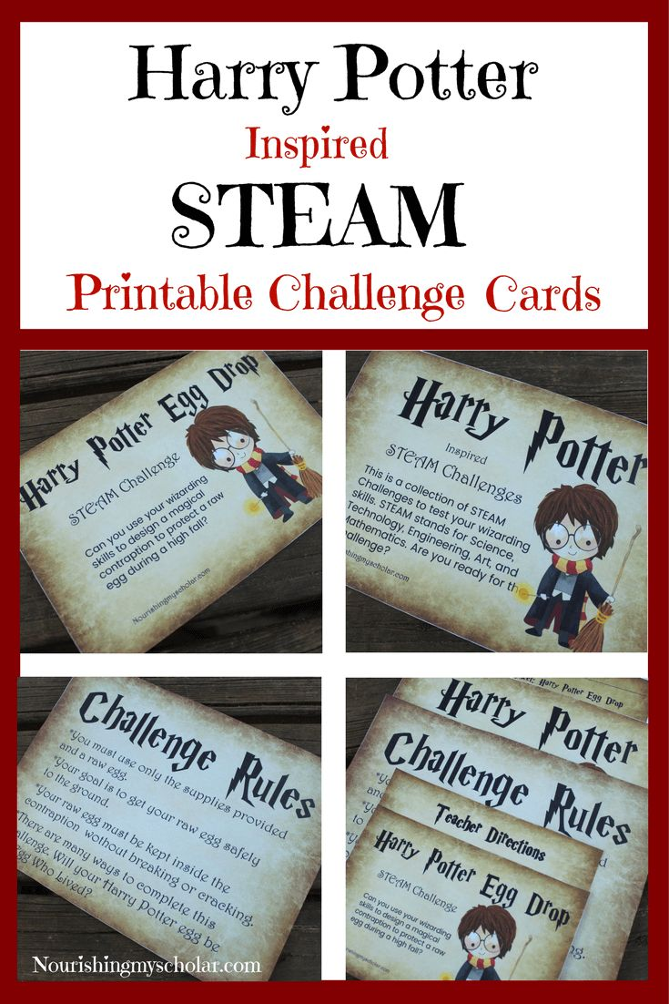 5 Days of Harry Potter Inspired Fun : Harry Potter…This is a collection of STEAM challenges to test your wizarding skills. STEAM stands for Science, Technology, Engineering, Art, and Mathematics. Are you ready for the challenge?