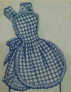 Vintage Bib Apron Full Size Pattern 1950s I Love Lucy