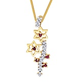 WOS 18KY Gold Pendant with 0.11CT D