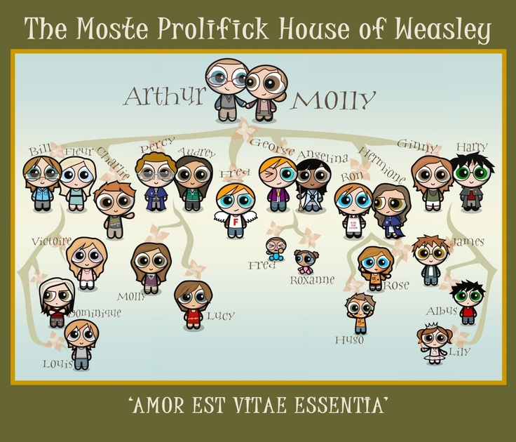 The Weasley Family tree.