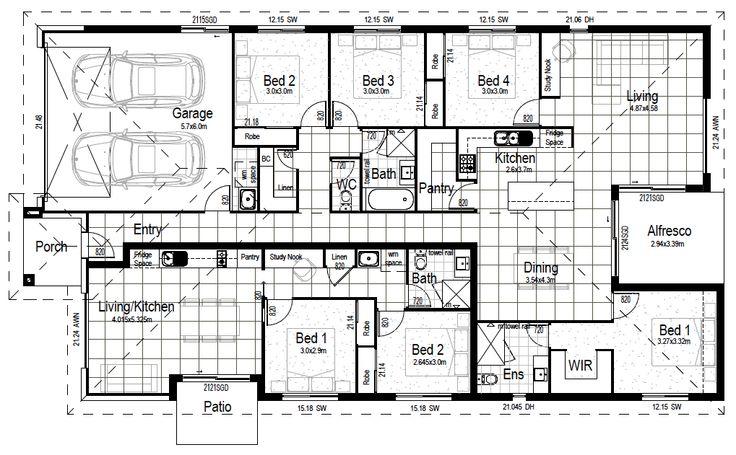 52 best 2018 dual key duplex house plans images on for Dual living house plans